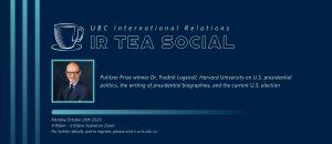 IR Tea Social – Dr. Fredrik Logevall